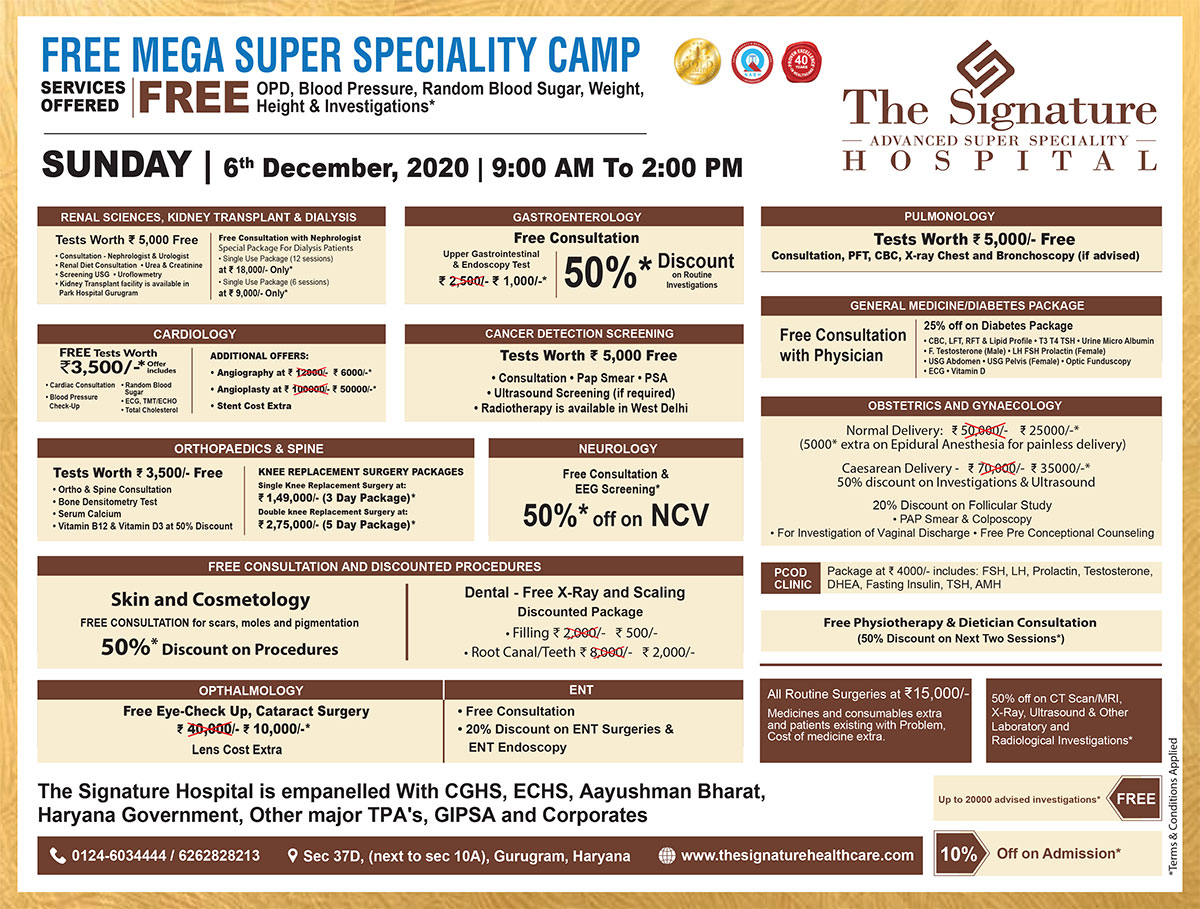 Free Mega Super Specialty Camp