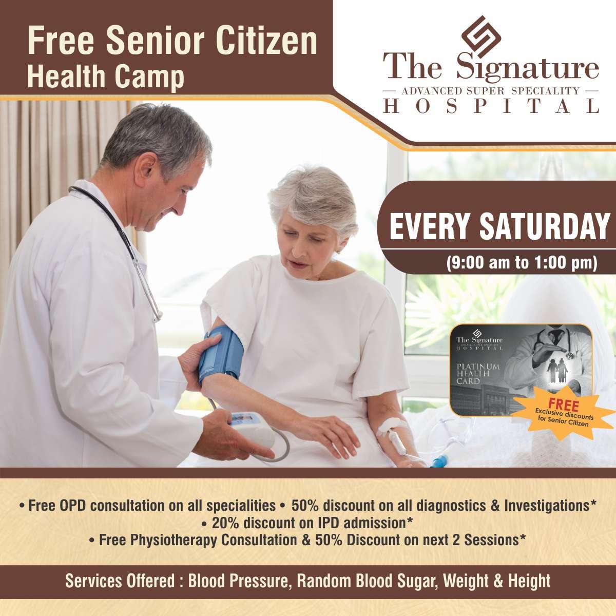 Free Senior Citizen Health Camp