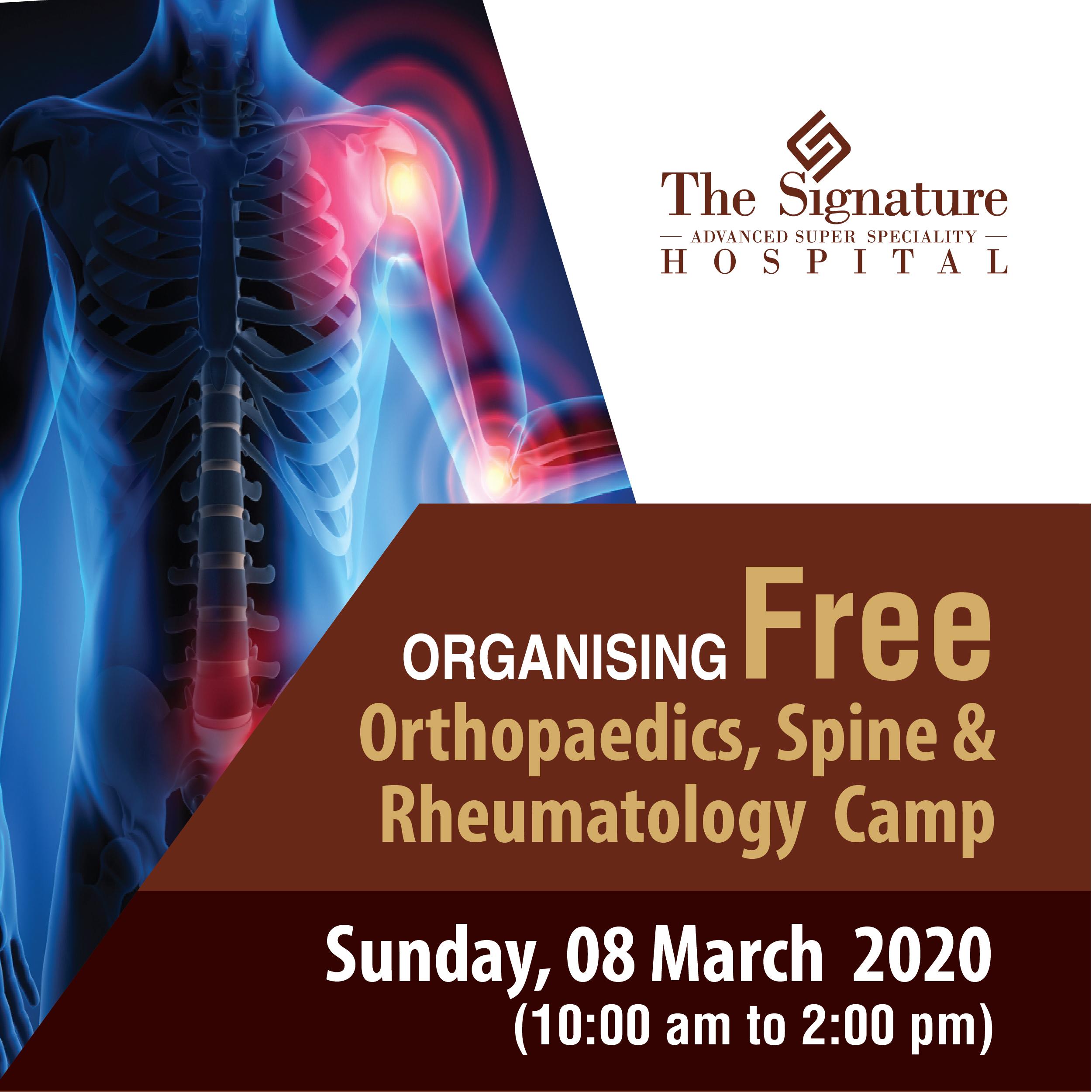 Organising Free Orthopaedics, Spine & Rheumatology Camp