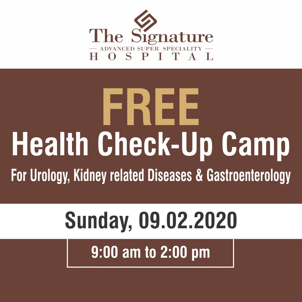 Free Medical Camp for Urology, Kidney related diseases and Gastroenterology